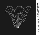 retrofuturistic liquid... | Shutterstock .eps vector #2014179875