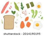 a set of ingredients for making ... | Shutterstock .eps vector #2014190195