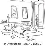 stylish and scandinavian living ... | Shutterstock .eps vector #2014216532