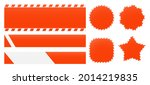 barrier tapes and banners.... | Shutterstock .eps vector #2014219835