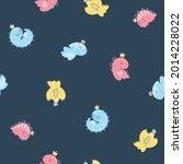 Dino Princess Seamless Pattern. ...
