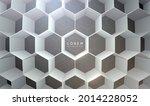 abstract white hexagonal... | Shutterstock .eps vector #2014228052