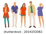 set of young men and women ...   Shutterstock .eps vector #2014252082