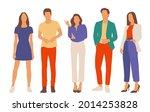 set of young men and women ...   Shutterstock .eps vector #2014253828