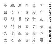 stroke line icons set of... | Shutterstock .eps vector #2014254365