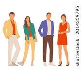 set of young men and women ...   Shutterstock .eps vector #2014259795