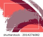 horizontal border with paint... | Shutterstock .eps vector #2014276082