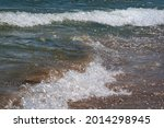 Sea Wave With White Foam Crest  ...