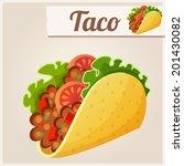 mexican taco. detailed vector... | Shutterstock .eps vector #201430082