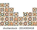 ceramic tile abstract pattern.... | Shutterstock .eps vector #2014303418