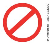 vector sign of no entry in... | Shutterstock .eps vector #2014323302