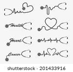 vector stethoscope icons design | Shutterstock .eps vector #201433916