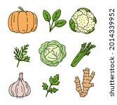 vegetable and herbs sketch....   Shutterstock .eps vector #2014339952