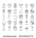 maps and navigation  thin line...   Shutterstock .eps vector #2014342172