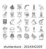 new zealand symbol  thin line...   Shutterstock .eps vector #2014342205