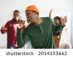 Joyful African American...