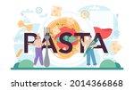 pasta typographic header....   Shutterstock .eps vector #2014366868