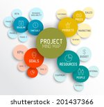 vector project management... | Shutterstock .eps vector #201437366