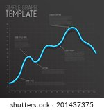 vector infographic line graph... | Shutterstock .eps vector #201437375