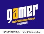 computer game lowercase style... | Shutterstock .eps vector #2014376162