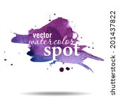 vector watercolor spot.... | Shutterstock .eps vector #201437822