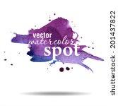 vector watercolor spot.... | Shutterstock .eps vector #201437822