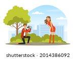 woman posing in front of... | Shutterstock .eps vector #2014386092