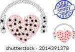 mesh polygonal love dj icons...   Shutterstock .eps vector #2014391378
