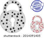 mesh polygonal lock icons...   Shutterstock .eps vector #2014391405