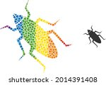 bug collage icon of circle...   Shutterstock .eps vector #2014391408