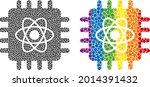 quantum computing collage icon...   Shutterstock .eps vector #2014391432