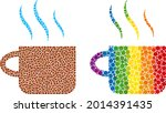 hot tea cup composition icon of ...   Shutterstock .eps vector #2014391435