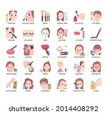 cosmetic  thin line and pixel...   Shutterstock .eps vector #2014408292
