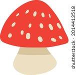 amanita poisonous mushroom...   Shutterstock .eps vector #2014413518
