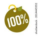 100 percent eco bio green sale... | Shutterstock .eps vector #2014445552