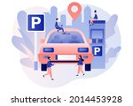 car in parking area. tiny...   Shutterstock .eps vector #2014453928
