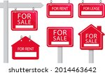 sale real estate signs design.... | Shutterstock .eps vector #2014463642