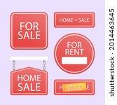 sale real estate signs design.... | Shutterstock .eps vector #2014463645