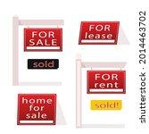 sale real estate signs design.... | Shutterstock .eps vector #2014463702
