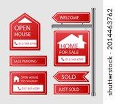 sale real estate signs design.... | Shutterstock .eps vector #2014463762