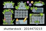 stone ui game element set ...