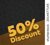 fifty percent discount...   Shutterstock .eps vector #2014477145