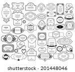 mega set of thin lineretro... | Shutterstock .eps vector #201448046