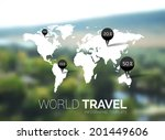 vector template. world map on... | Shutterstock .eps vector #201449606