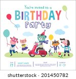 birthday party  | Shutterstock .eps vector #201450782