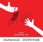 the friend is giving his friend ... | Shutterstock .eps vector #2014519268