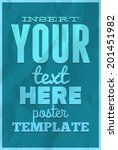 poster template on colorful... | Shutterstock .eps vector #201451982