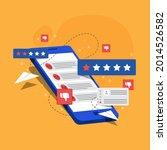 bad review concept design.... | Shutterstock .eps vector #2014526582