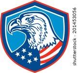 illustration of a bald eagle... | Shutterstock .eps vector #201453056