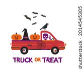 fancy halloween truck or treat... | Shutterstock .eps vector #2014545305